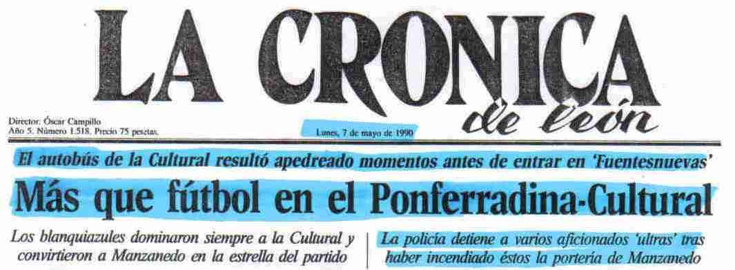 LA CRONICA 7 MAYO 1990